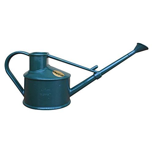 1 Pint Plastic Watering Can - Used for Houseplants, Flowers or Bonsai Trees + Indoor and Outdoors use of Sprinkling Plants, Green