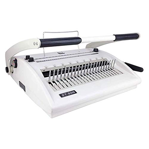 AITAOZI Máquina de aglutinante de perforación Máquina de encuadernación Multifuncional 3 en 1 Clip Strip Pein Tipo del APARTO Anillo DE Hierro COMPARTIDO Máquina de Agujero Redondo compartido