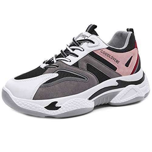 Zapatillas deportivas para mujer con plataforma elevada para verano, 35-40, color Rosa, talla 36 EU