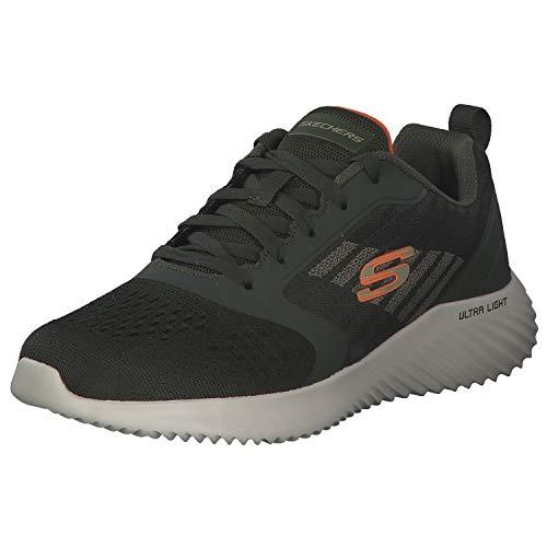 Skechers Herren Sneaker Freizeitschuh Sportschuh Laufschuh Moderne Sneakers Sommerschuh 232004 Grün Olive 47.5 EU