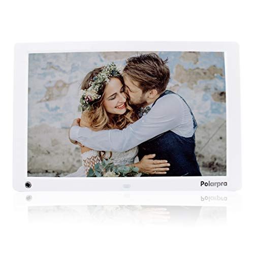 12 Inch Digital Picture Frames,Digital Photo Frames HD 1024x768 16:9 LCD Widescreen Picture Frame 1080P Video Picture Display,Auto Rotate,Motion Sensor,Music Around,SD/USB Port,Remote Control-White