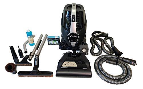 Sirena Platinum Black Edition - Lightweight Water Filtration Pet Vacuum - Bonus HEPA Filter and Turbo Brush - Hardwood Floor Sweeper and Pet Hair Cleaner