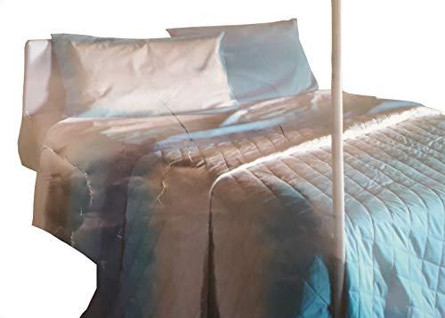 Zucchi Tagesdecke für Doppelbett, gesteppt, Baumwolle, 260 x 260 cm, Blau
