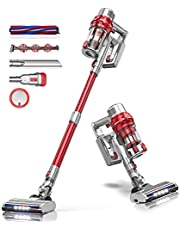 BuTure Cordless Vacuum Cleaners, 26KPa Powerful Stick Vacuum, 35min Runtime Lightweight Cordless Vacuum with Extension Tube and Detachable Battery Handheld Vacuum for Carpet/Floor/Pet/Stair