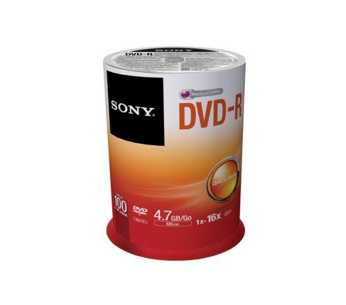 SONY Pack de 100 DVD-R (Spindle) SONY 16x - 4,7Go