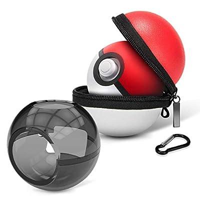 HEYSTOP Estuche de Transporte para Pokemon Poke Ball Plus, Funda Portátil de Viaje Rígido Protector para Nintendo Switch Pokémon Lets Go Pikachu Eevee Game Accesorios (2 Unidades) por HEYSTOP