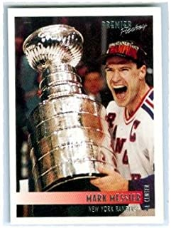 Mark Messier hockey card (1994 New York Rangers Stanley Cup Champions) 1995 Topps Premier #1