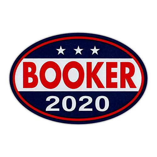 "Crazy Novelty Guy Oval Shaped Magnet - Cory Booker 2020 - Democrat President - Magnetic Bumper Sticker, Campaign Magnet - 6"" x 4"