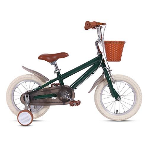 TXTC 14/16/18 Inch Boy and Girl Bike,Cruiser Bike,Freestyle Kids Bicycle with Training Wheels,High Carbon Steel Frame,Dual Disc Brake,Basket,Balance Bike Best Gift for Kids
