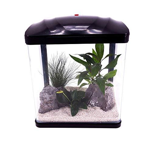 AquaOne Hr-230 schwarz Nano Aquarium Komplettaquarium Mini Aquarium Filteranlage Nanoaquarium Komplett Filter Beleuchtung