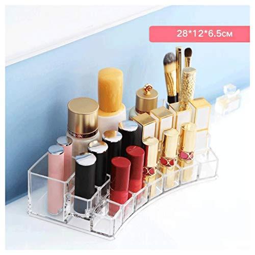 Étui de Maquillage Rouge à lèvres Boîte De Rangement Maquillage Organisateur Acrylique Dressing Table Boîte De Rangement Clair Mode Grand Diamètre UOMUN