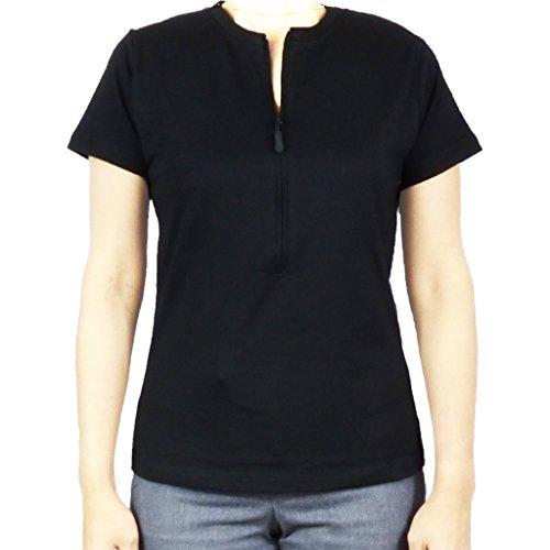 Women's Fashion Chemo Pullover Shirts (Medium) Black