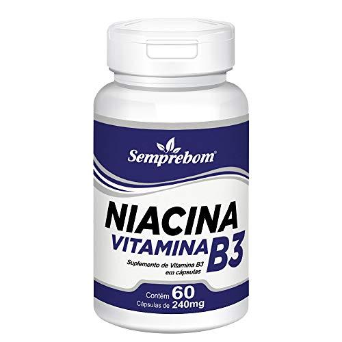 Niacina Vitamina B3 – Semprebom - 60 Cap. de 240 mg.