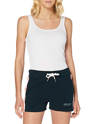 Superdry Rainbow Straight Hem Short Pantalones Cortos, Azul (Eclipse Navy 98t), XXL (Talla del Fabricante:18) para Mujer