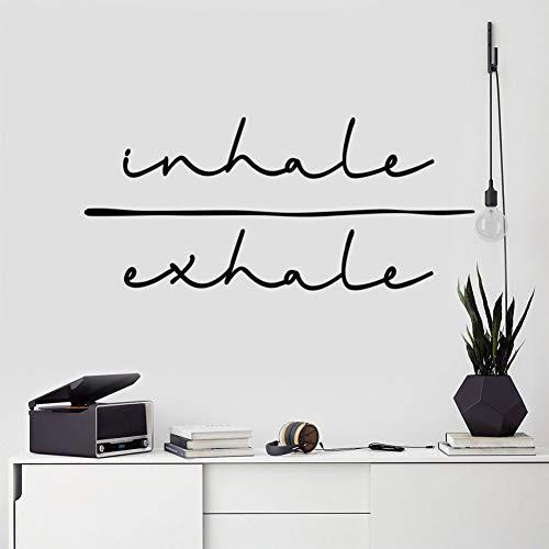 Chengxhu Inhale Exhale - Adhesivo decorativo para pared, diseño de pared