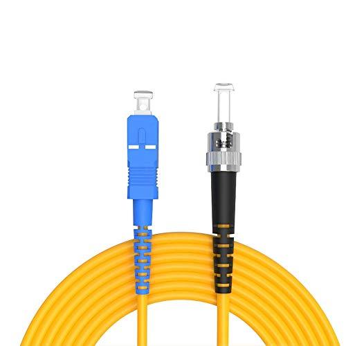 Buacoz 30Meters 100ft SC/UPC-ST/UPC Single-Mode Fiber Optic Cable SC...