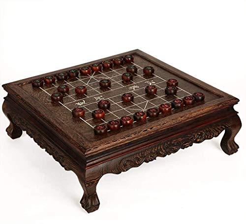 SJZLMB Tablero de ajedrez Caja de ajedrez de ajedrez de ajedrez de ajedrez de ajedrez de ajedrez Adulto de Madera Maciza colección de Lujo de Gama Alta Grande ajedrez de ajedrez