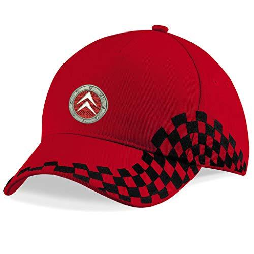 orestamazon Citroen Bestickte Logo Baseball Cap Mütze - k 1224 - Rot-VIP