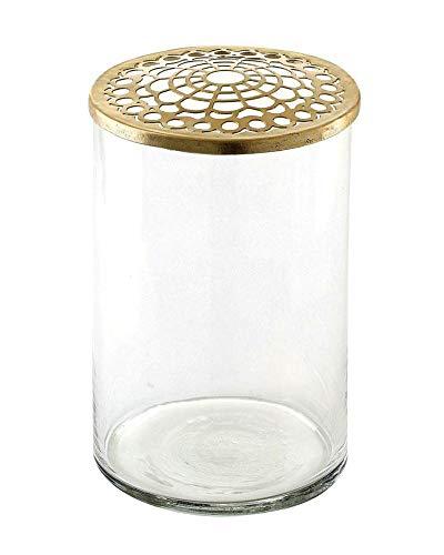 A simpele Mess - vaas/bloemenvaas - Kassandra - glas - hoogte 15 cm