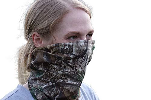 QuikCamo Camo Neck Gaiter Face Mask (Realtree Xtra Green)