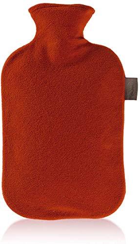 Fashy 6530 - Bolsa de agua caliente con funda de fieltro, 2 L, color rojo ⭐