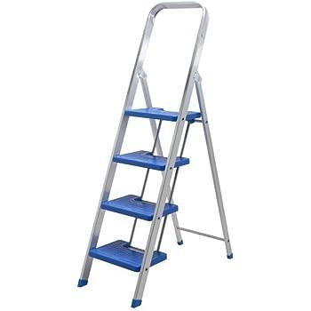 Escalera aluminio peldaño ancho (6 peldaños): Amazon.es: Bricolaje y herramientas