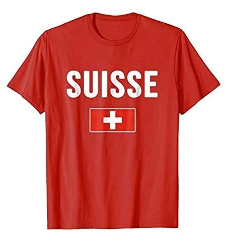 Over Zwitserland T-Shirt Zwitserse vlag heren T-shirt met korte mouwen Katoen T-Shirt
