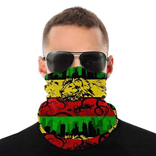 DFGHG Sicherheitsschutz, Gesichtsschutz, abwaschbares Tuch, Gesichtstuch Variety Gaiter Lion Jamaica Reggae Thin Headwear Windproof Comfy Sun Uv Protection Soft Face Scarf Multifunctional Bandana