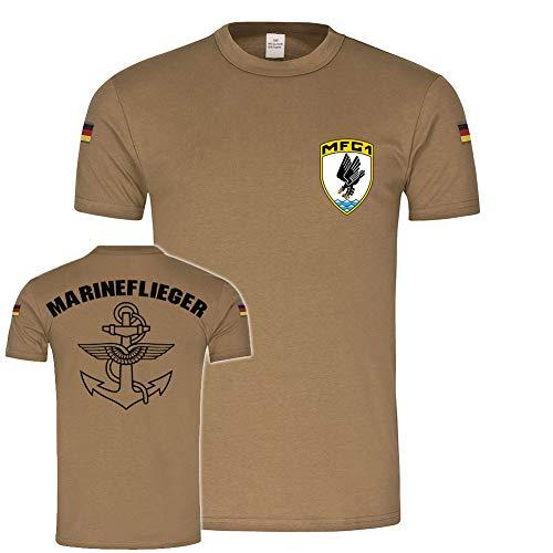 Copytec BW Tropen MFG 1 Marineflieger Marinefliegergeschwader Jagel Bundeswehr Marine Reservist #21758, Farbe:Khaki, Größe:Herren XL