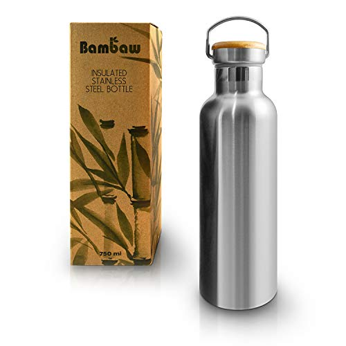 Borraccia termica | Bottiglia termica | Bottiglia termica 750 ml | Borraccia acciaio inox | Borraccia no plastica | Borraccia ecologica | Borraccia senza BPA | Bevande calde e fredde | Bambaw