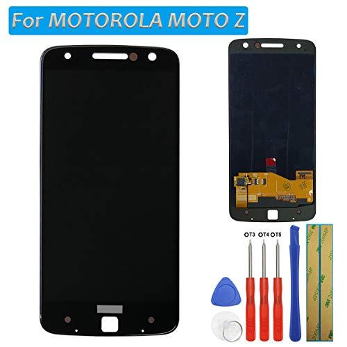 Melphyreal Für Motorola Moto Z XT1650-01/03 5.5'' OLED Bildschirm Touchscreen Glas Ersatz LCD Bildschirm Digitizer (Schwarz) + Werkzeuge
