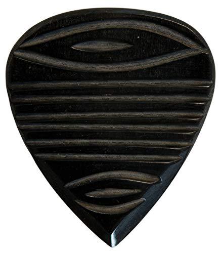 Stanford Guitar Pick Templedoor Dark Horn : Luxus Gitarren Plektrum aus Horn für Akustikgitarre, E-Gitarre, Ukulele, Bass