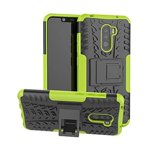 CaseExpert Xiaomi Pocophone F1 Funda, Heavy Duty Silicona híbrida con Soporte Cáscara de Cubierta Protectora de Doble Capa Funda Caso para Xiaomi Pocophone F1