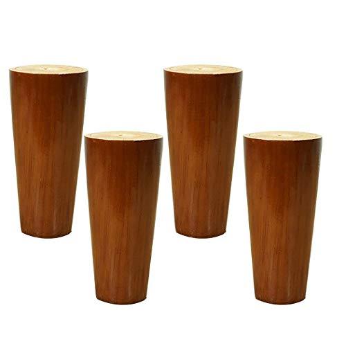 LQUIDE Möbelbeine Aus Massivem Holz, Hohe Füße Für Fernsehmöbel Im Nordischen Stil, rutschfeste Stützfüße Für Tisch/Sofa/Schrank, 4-Teilig