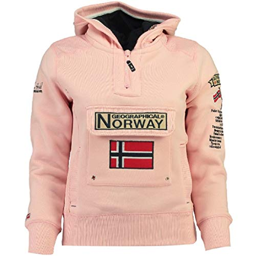 Geographical Norway, GYMCLASS, felpa unisex da bambino e bambina rosa chiaro 10 anni