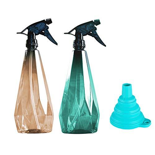 Sayiant 2 Stück Leere Kunststoff-Sprühflasche Trigger-Wassersprüher, Sprühflasche für Pflanzen, Bleichmittel, Reinigung, Gartenarbeit und Küche