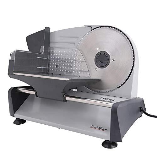 Jacksing Cortadora de Alimentos eléctrica para fiambres, cortadora de Alimentos eléctrica para...