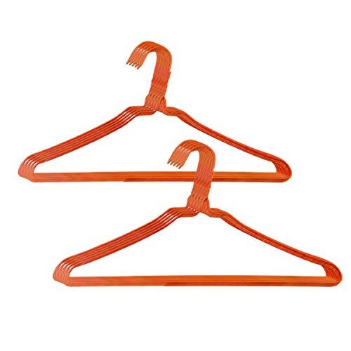 オリタニ 針金ハンガー 日本製 レギュラーサイズ 50本 洗濯 収納 省スペース (オレンジ)