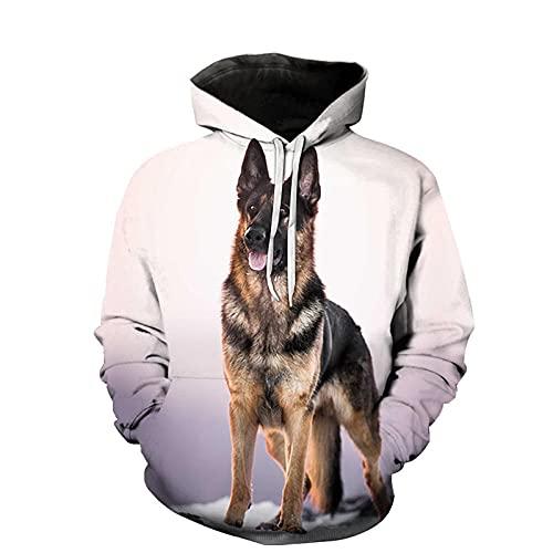 wuquansy Impresión 3D Pet Dog Hoodie Hombres y Mujeres DIY Sudadera con Capucha Se Puede personalizar-A16_SG