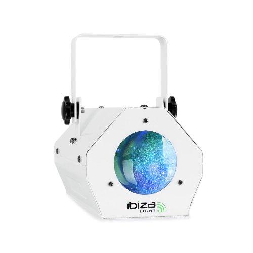 Ibiza LCM003 Moonflower LED-Lichteffekt Strahler (RGBWA Farbspektrum, Musiksteuerung, für Wand- und Deckenmontage) weiß