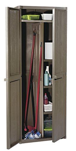 Gensini 5730.00.A1233 - Mueble Alto para Escoba, marrón, 65 x 45 x 172 cm