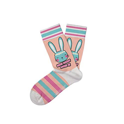 Two Left Feet Little Kids Novelty Socks, bunny LOVES US Medium/Large