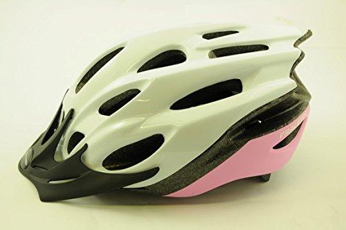 Raleigh MISSION EVO CYCLE BIKE HELMET PINK/WHITE LARGE 58-62cm