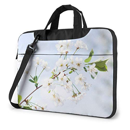Laptop Shoulder Bag Carrying Laptop Case 14 Inch, Spring Flowers Computer Sleeve Cover with Handle, Business Briefcase Protective Bag for Ultrabook, MacBook, Asus, Samsung, Sony, Notebook
