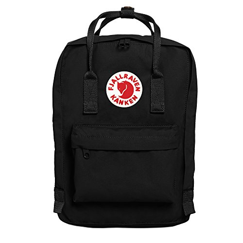 FJÄLLRÄVEN Unisex Adults' Kånken Laptop Backpack, Black, 23 x 16 x 35 cm/13 Litre