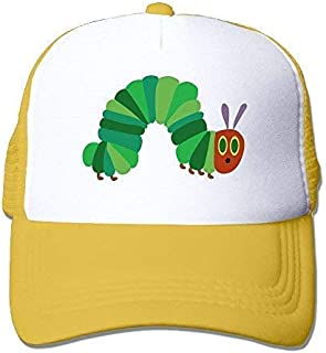 AUCAMP The Very Hungry Caterpillar Mesh Trucker Caps/Hats Adjustable for Unisex Black Yellow