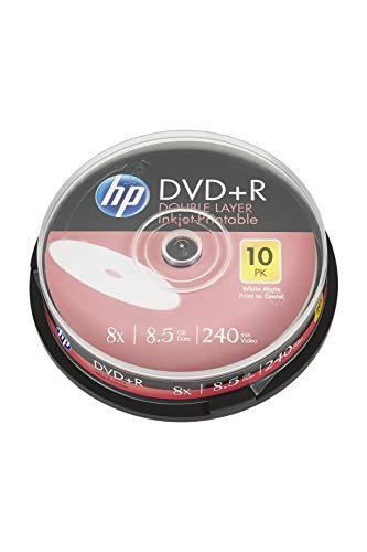 HP DVD+R DL Rohlinge bedruckbar, 10er Spindel DVD+R 8,5 GB