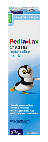Pedia-Lax Rectal Saline Laxative Enema | Treats Constipation, Relief in Minutes, 2.25 Fl Oz (Pack of 24)