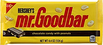 Hershey s Mr Goodbar Milk Chocolate & Peanuts Candy Bar - XL 4.4 oz  Pack of 4