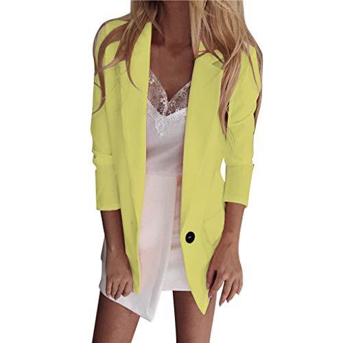 SatinGold Damen Strickjacke, Mode Hemd V-Ausschnitt Vorne ?ffnen L?ssig Blazer Formelle Anzug Windbreaker für Frühling/Herbst